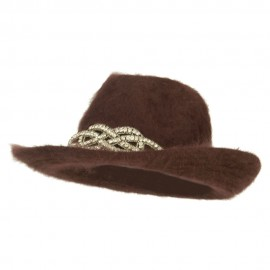 Angora Cowboy Hat with Decoration - Brown