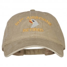 101st Airborne Retired Embroidered Washed Cotton Twill Cap
