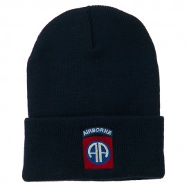 82nd Airborne Military Embroidered Beanie - Navy