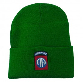 82nd Airborne Military Embroidered Beanie