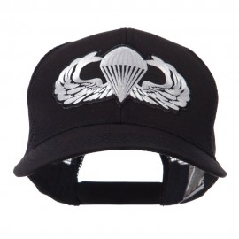 Air Borne Wing Shape Patched Mesh Cap