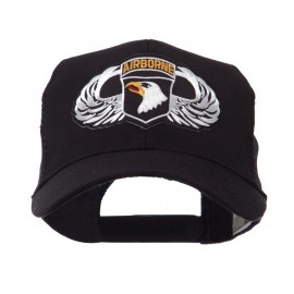 Air Borne Wing Shape Patched Mesh Cap - 101st