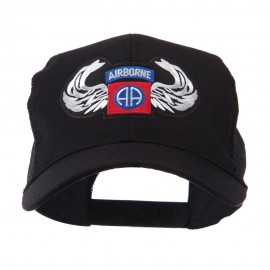 Air Borne Wing Shape Patched Mesh Cap - 82nd