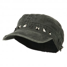 Army Cadet Fitted Cap with Studs - Black