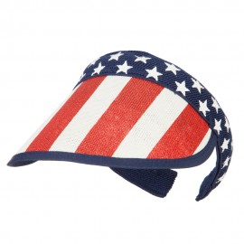 Americana Clip On Visor with Star Printed Crown