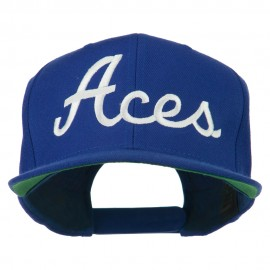Aces Embroidered Flat Bill Cap