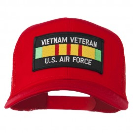 US Air Force Vietnam Veteran Patched Mesh Cap