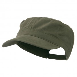 Adjustable Cotton Military Cap - Olive