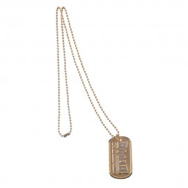 Army Dog Tag - Bronze Hooah