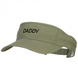 Daddy Embroidered Pro Style Cotton Washed Visor