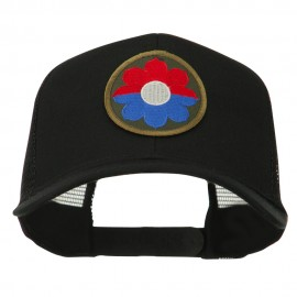 US Army 9th Infantry Division Patched Mesh Back Cap - Black