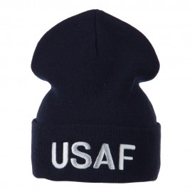 Air Force Embroidered Knit Military Beanie