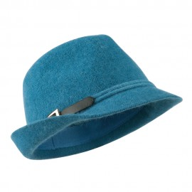 Angora Fedora with Belt Buckle Accent