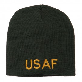 US Air Force Military Embroidered Short Beanie