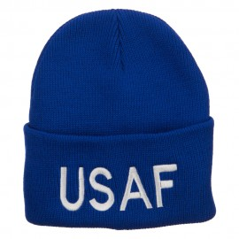 US Air Force USAF Embroidered Long Beanie - Royal