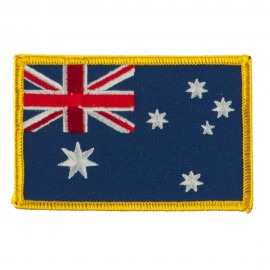Asia Flag Embroidered Patches