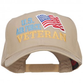 Wording of US Air Force Veteran with Flag Patched Pro Cap
