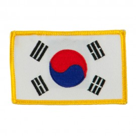 Asia Flag Embroidered Patches - Korea