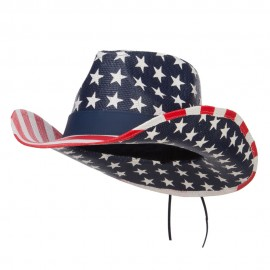 American Flag Designed Cowboy Hat