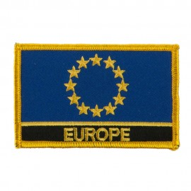 Asia and Australia Flag Name Embroidered Patch - Europe