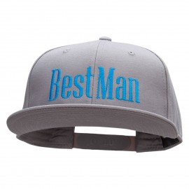 The Best Man Embroidered Prostyle Snapback