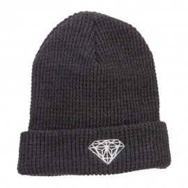 Big Size Diamond Embroidered Waffle Cuff Beanie