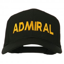 Admiral Embroidered Cotton Twill Cap - Black