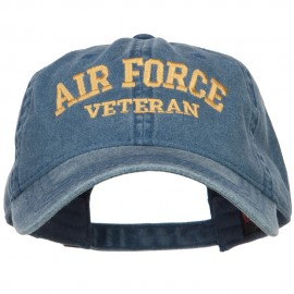 Air Force Veteran Letters Embroidered Washed Cap