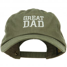 Great Dad Embroidered Unstructured Cotton Cap