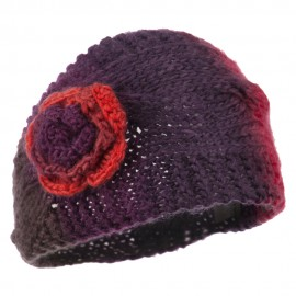 Flower Acrylic Knit Head Band for Ladies