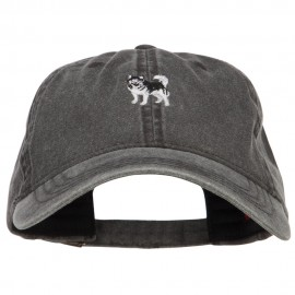 Alaskan Malamute Embroidered Washed Cap