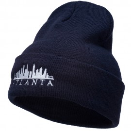 Atlanta Skyline Embroidered Cuffed Long Beanie