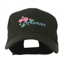 USA State Flower Arkansas Apple Blossom Embroidered Cap