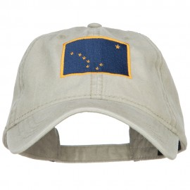 Alaska State Flag Embroidered Washed Cap
