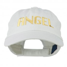 Angel Embroidered Cap - White