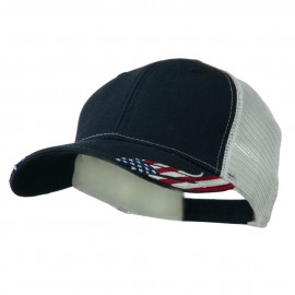 Structured American Flag Cap - Navy