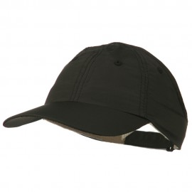 Athletic Microfiber Ponytail Cap - Black