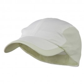 Athletic Moisture Absorbing Hat - White Khaki