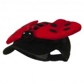 Velvet Lady Bug Cap