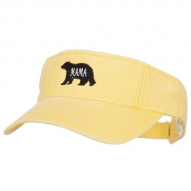 Mama Bear Embroidered Pro Style Cotton Washed Visor