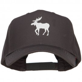 American Moose Embroidered Twill Cap - Charcoal
