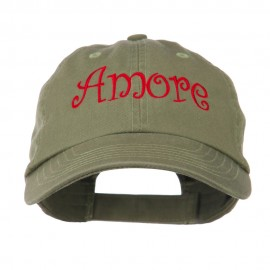 Wording of Amore Embroidered Cap