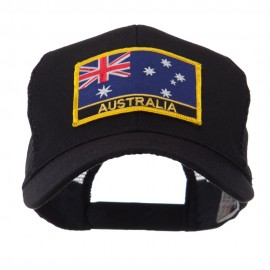 Asia, Australia and Other Flag Letter Patched Mesh Cap