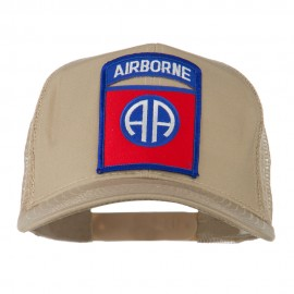 82nd Airborne Military Patched Mesh Cap - Khaki