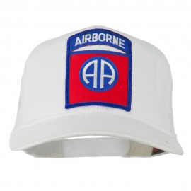 82nd Airborne Military Patched Mesh Cap - White