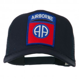 82nd Airborne Military Patched Mesh Cap - Navy