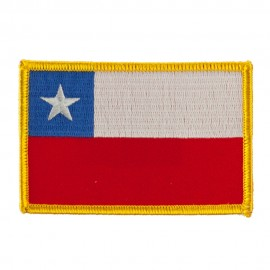 America Flag Embroidered Patches - Chile