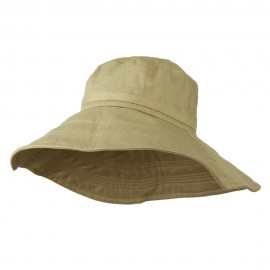 Big Size Ladies Linen Wide Brim Hat