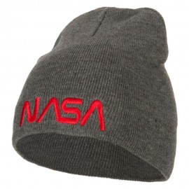 NASA Letters Embroidered Knitted Short Beanie