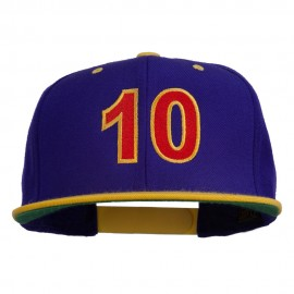 Arial Number 10 Embroidered Classic Two Tone Snap Back Cap